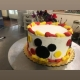 Mouse Silhouette Cake