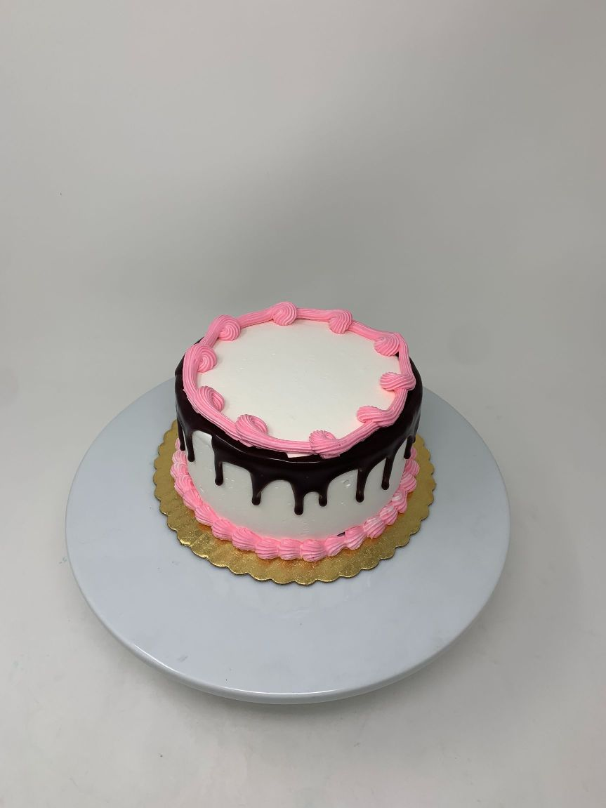Pink frosted and Chocolate Drip