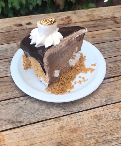 S'mores sliced cake
